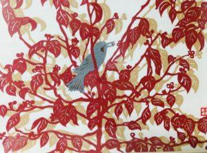 切り絵小鳥