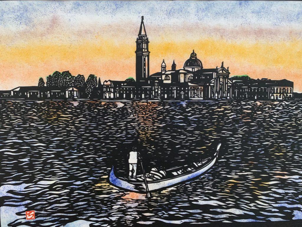 切り絵イタリア・ヴェネツィア