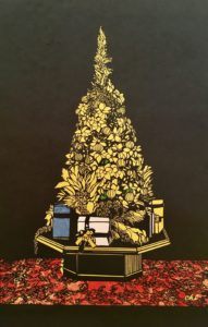 切り絵 豪華クリスマスツリー