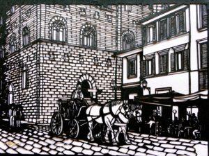 切り絵フィレンツェの街
